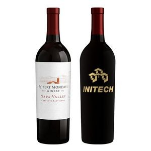 750Ml Robert Mondavi Napa Valley Cabernet Red Wine Etched w/1 Color Fill