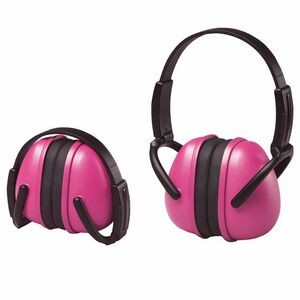 239 Pink Foldable Ear Muff with Adjustable Band